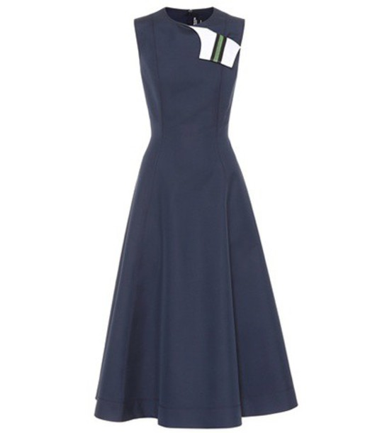 CALVIN KLEIN 205W39NYC dress cotton silk blue
