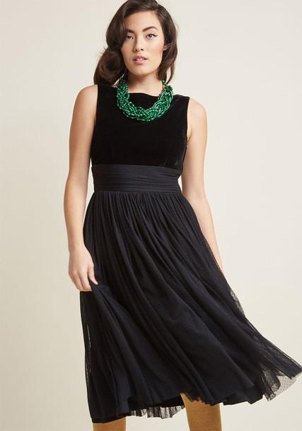 DR5402 skirt soft midi black velvet