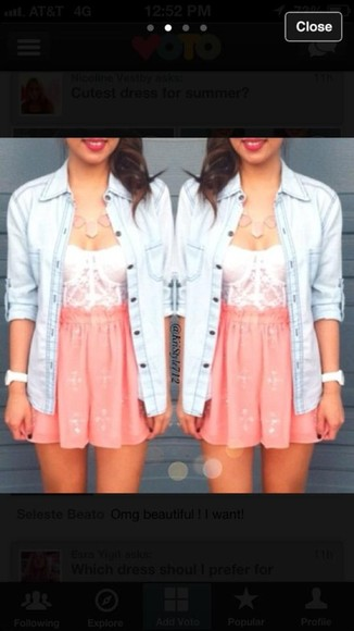 pink and white dress lace dress summer dress