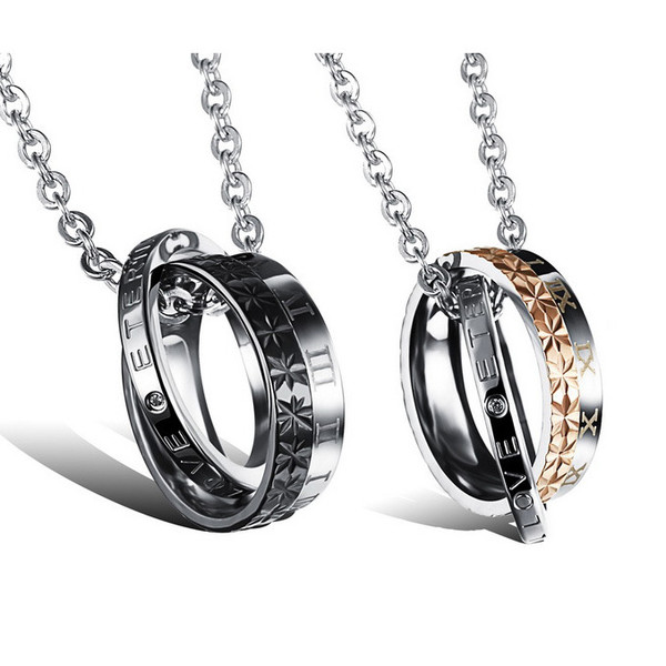 customer relationship necklaces for him and her