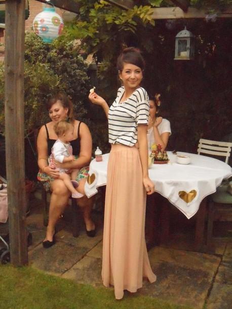 Skirt Zoella Clothes Maxi Skirt Pink Maxi Skirt Shirt Pink Skirt Wheretoget