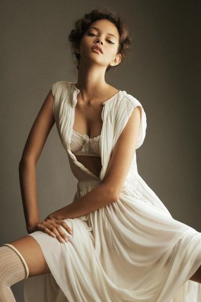 underwear bra beautiful white beige lace amazing splendid camisole lingerie brassiere balconette balcony dress