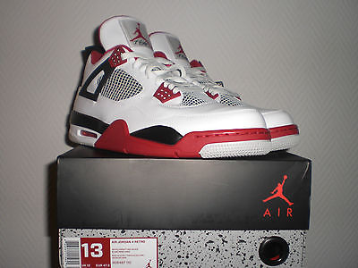 Nike Air Jordan 4 Retro Fire Red US13 UK12 EUR47 5 IV V 5 Spizike 11 III 3 XI | eBay