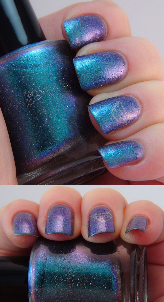 Maui  15ml  teal/blue/purple duochrome nail by indigobananas