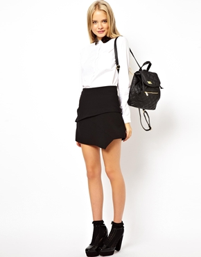 ASOS   ASOS Mini Skirt With Notch Hem at ASOS