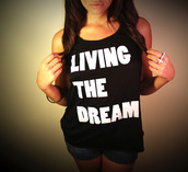 shirt,black,dream,love,white,girl,fashion,quote on it,bag,love quotes,new years resolution