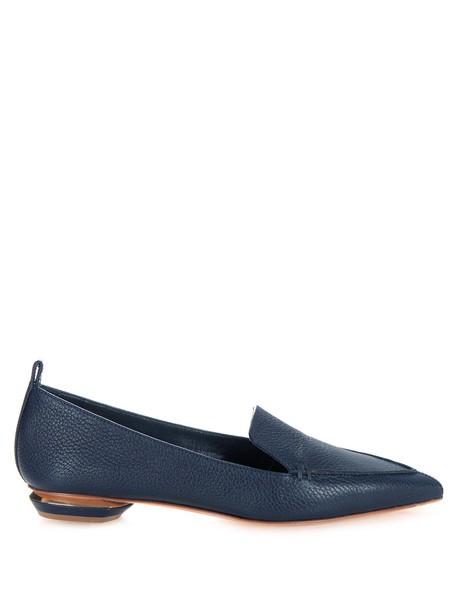 Nicholas Kirkwood loafers leather dark blue dark blue shoes