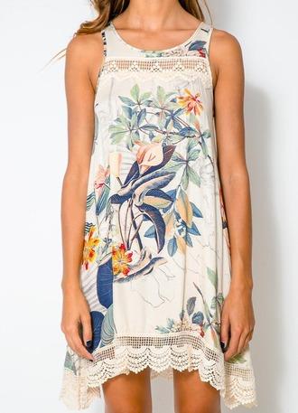 dress summer dress one piece summer top printing dress mini dress