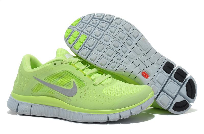 neon green nike free runs