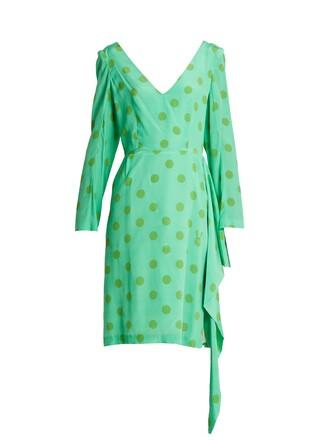 dress silk green