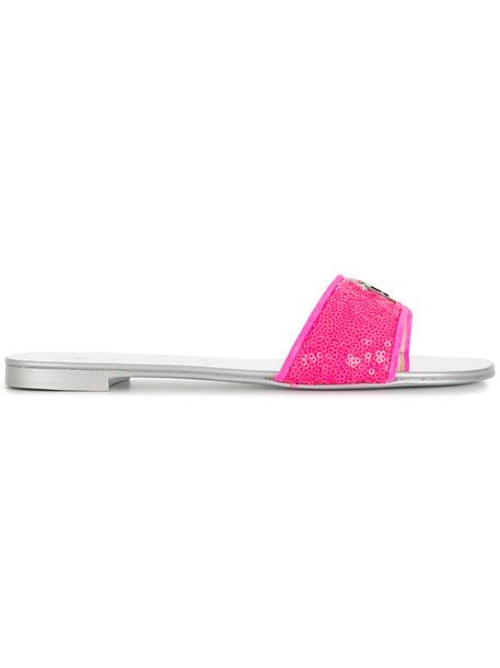 GIUSEPPE ZANOTTI DESIGN women sandals leather purple pink shoes