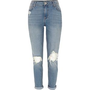 River island mid wash ripped ashley boyfriend jeans