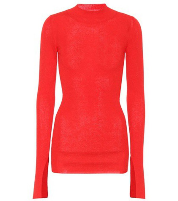 Stella McCartney Cotton and alpaca-blend sweater in red