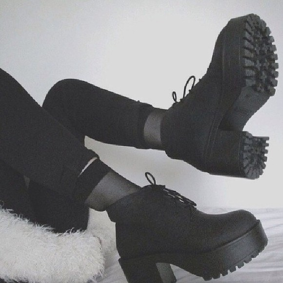shoes boots platform shoes ankle boots platform boots black combat boots textile shoes boots, black, chunky , ankle, high, heeled , ankle boot, chelsea boot
