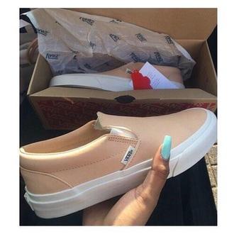 shoes vans nude pink light light pink sneakers