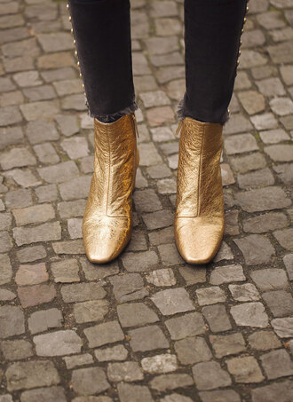 shoes boots gold rock gold boots cool indie rock