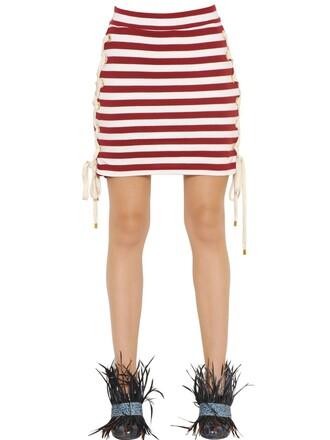 skirt mini skirt mini lace cotton white