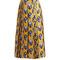Gg wallpaper-print pleated silk midi skirt