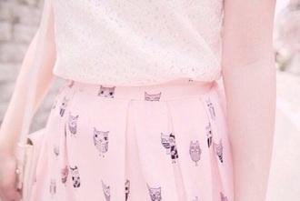 owls owl pink pastel pastel pink girly