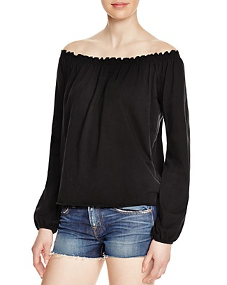 CHASER Off-The-Shoulder Peasant Top | Bloomingdale's