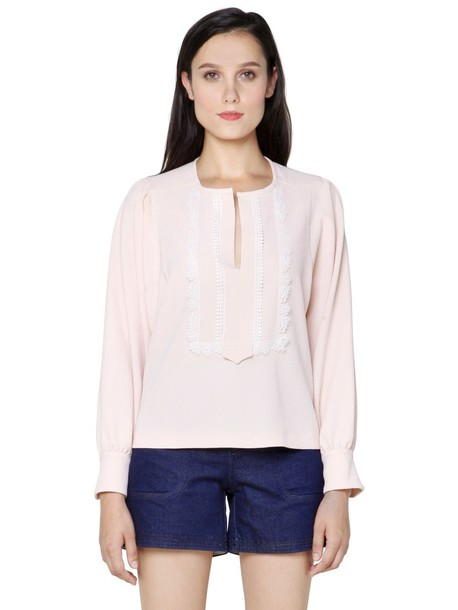 See by Chloe top lace pink