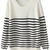 ROMWE | Asymmetric Striped White Jumper, The Latest Street Fashion