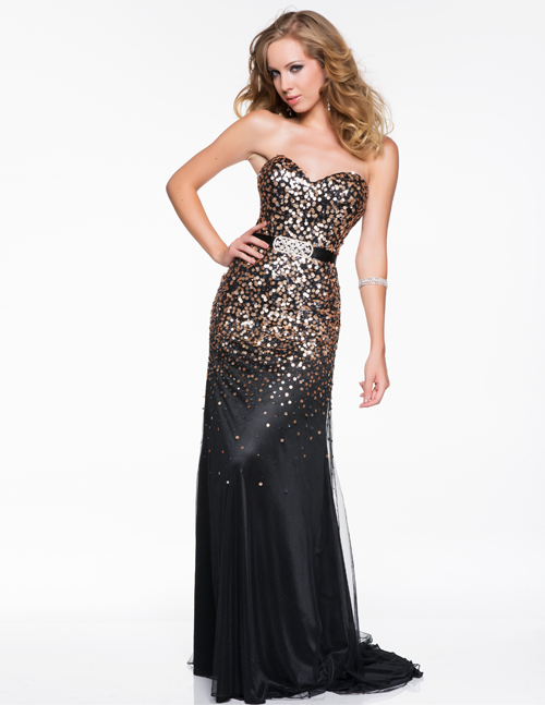 BLACK AND GOLD PROM DRESSES - Kalsene Fede