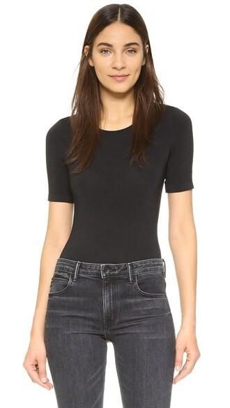 bodysuit black underwear