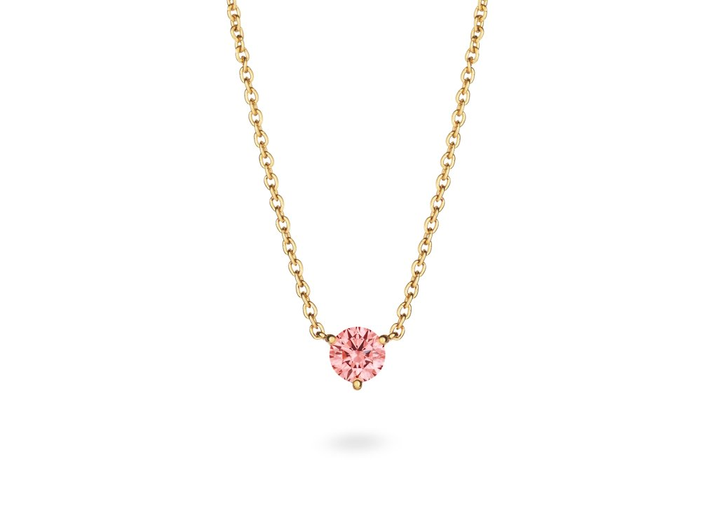 Solitaire Pendant in Pink