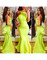 Peplum bodycon long maxi mermaid dress party evening prom neon red
