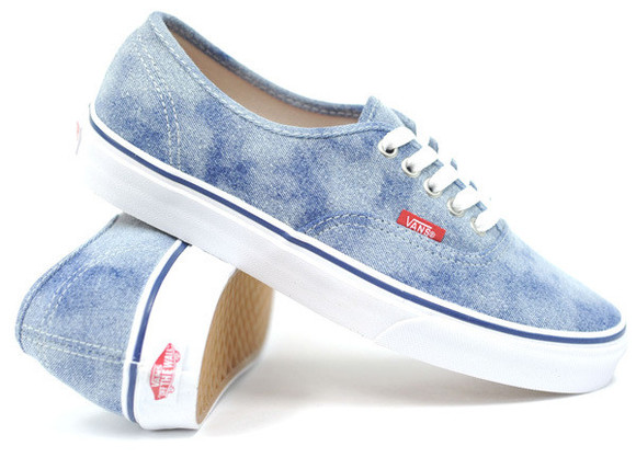 vans authentics shoes blue bag