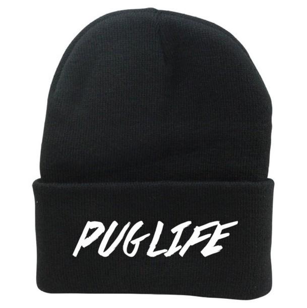 hat pug life beanie dfa09b79e48