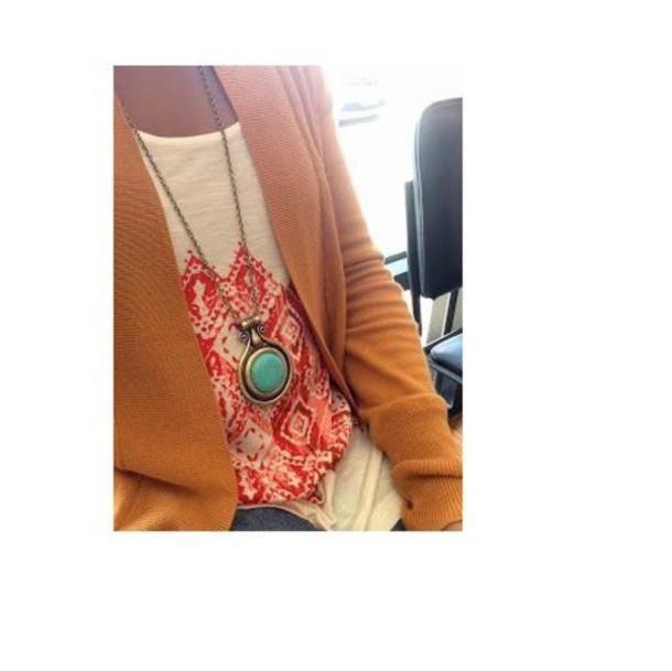 top necklace blazer