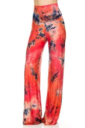 pants,betsy boo's boutique,coral,tie dye,palazzo pants,jersey knit,comfy,comfy pants,navy,summer,free shipping,colorful