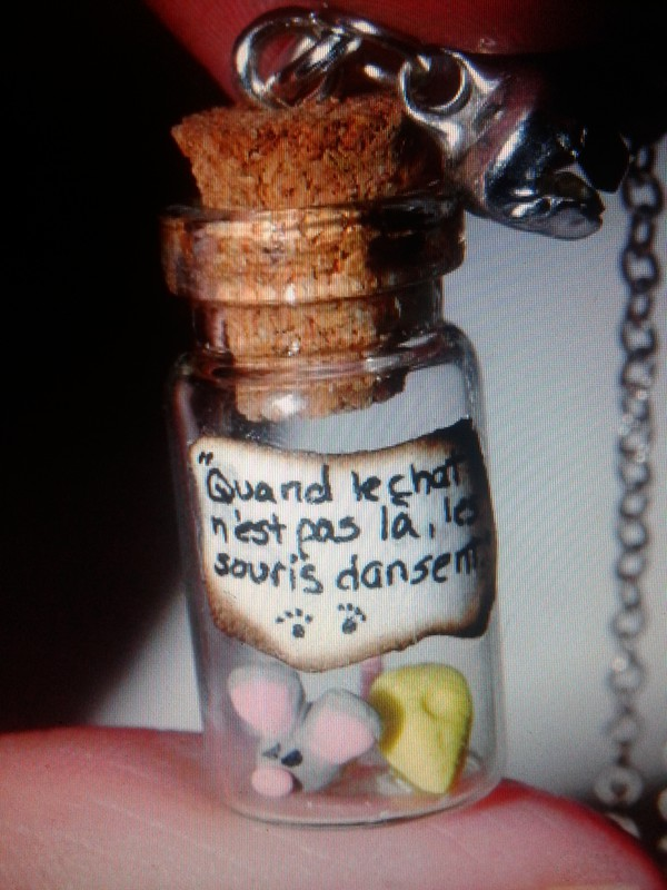 jewels bottle necklace necklace mouse cats flushed away