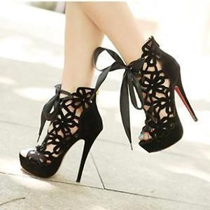 Sexy Women Super High Heel Platform Shoes Sandals Boots AU4 5 8 5 EUR35 39 JE272 | eBay