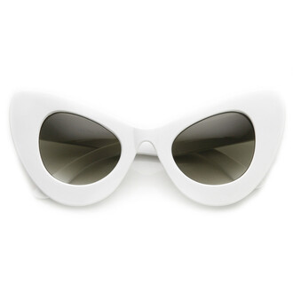 sunglasses cat eye white white sunglassezs white sunglasses