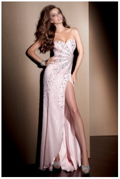 Beaded Pink Claudine by Alyce Designs Prom Dress 2069 [YE207] - $218.00 :