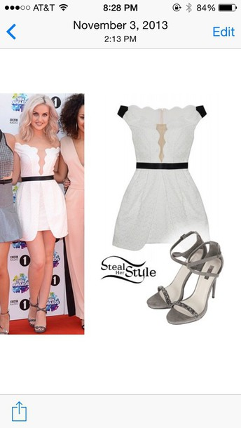 little mix white dress perrie edwards