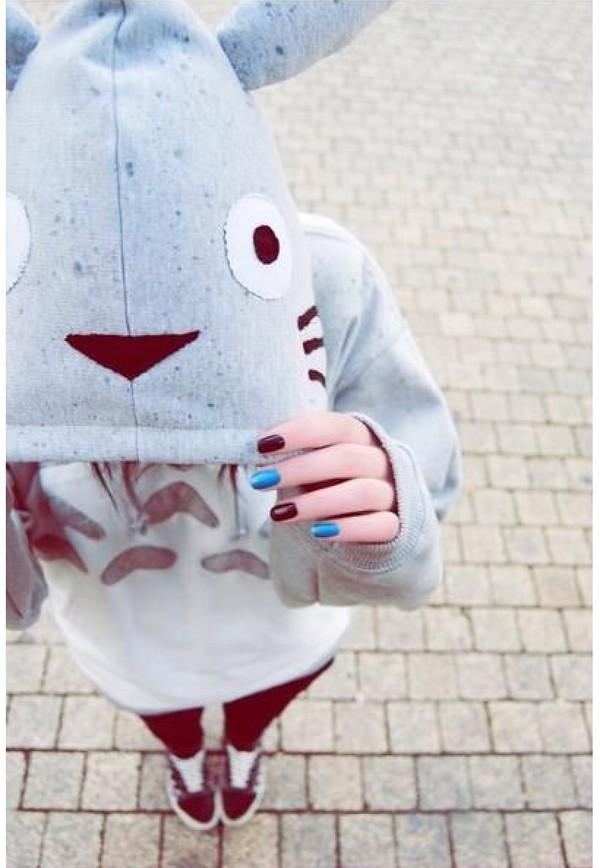 hoodie studio ghibli nerd geek bunny sweater