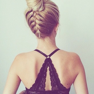 underwear bralette bra lace black back wedding hairstyles prom beauty girly instagram hairstyles lingerie date outfit hair/makeup inspo lace bralette lace bra black lace boho