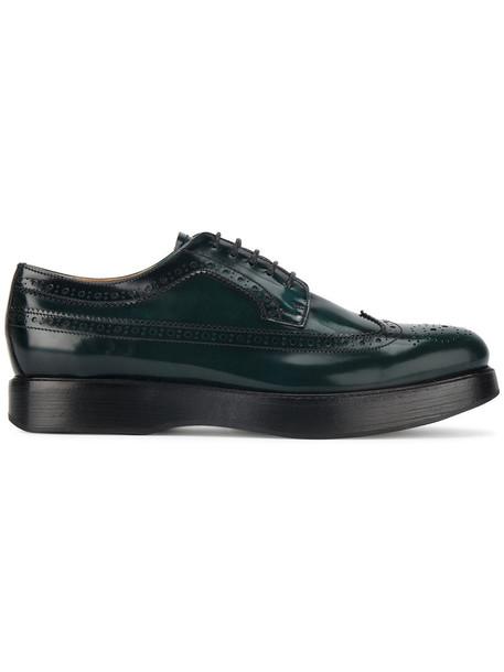 Church's women opal leather green shoes