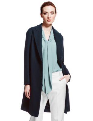 Wool Rich Cocoon Coat | M&S