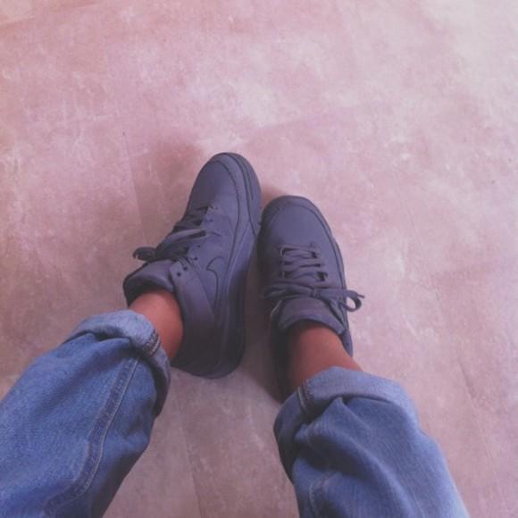shoes nike grey sneakers sneakers high