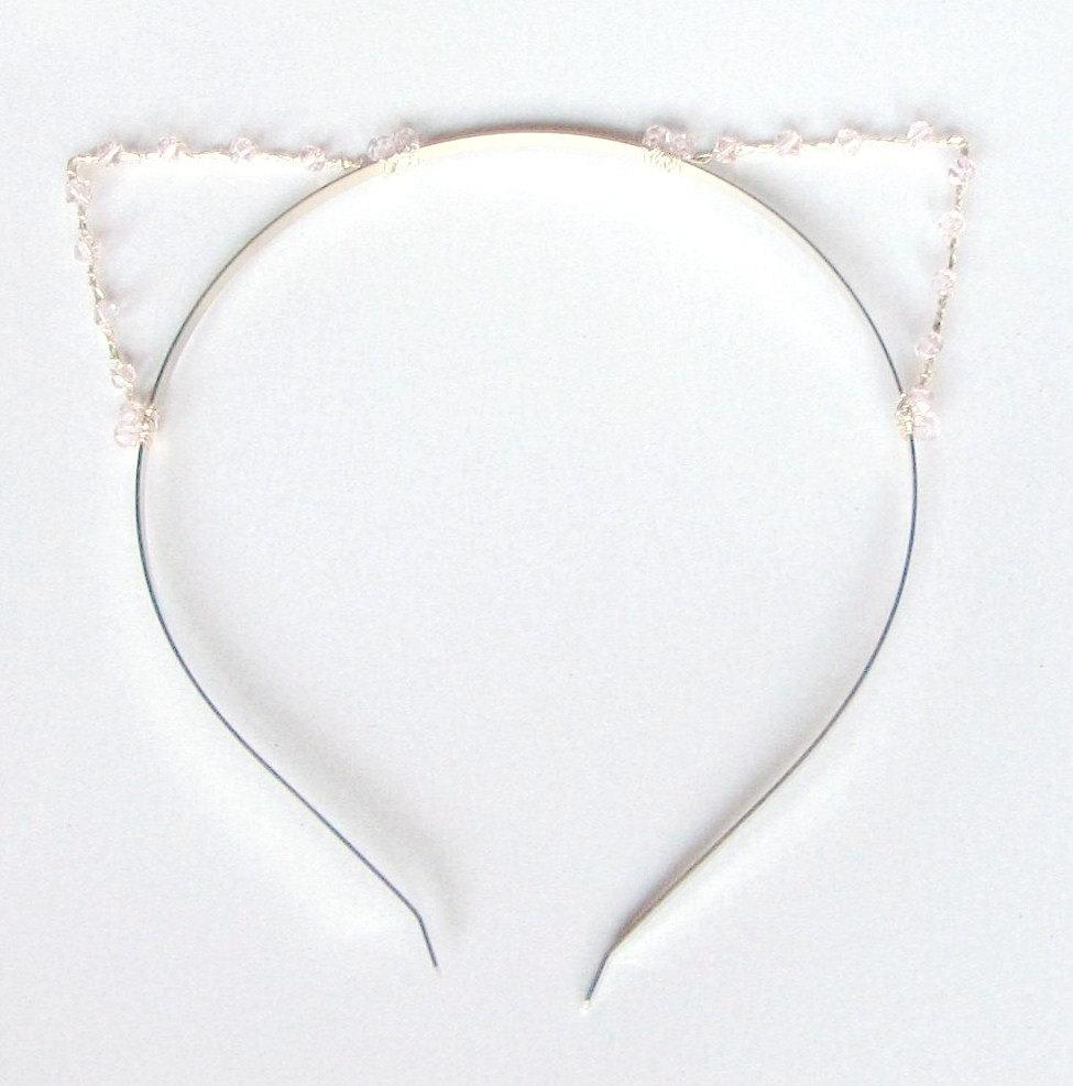Pale Pink Cat Ears Headband 37ff38f5be9