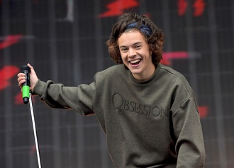 sweater green calvin klein harry styles