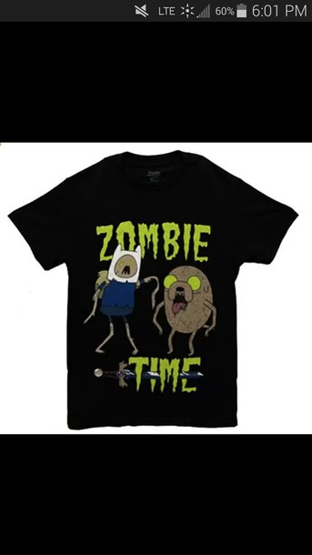 shirt adventure time shirt zombie cartoon network characters jake adventure time