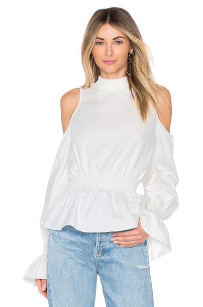 TULAROSA blouse white top