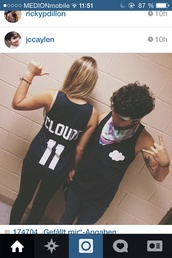 shirt,jc caylen,clouds,cloudi,lia marie johnson,black,t-shirt