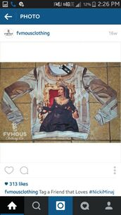 shirt,long sleeves,nicki minaj crew neck